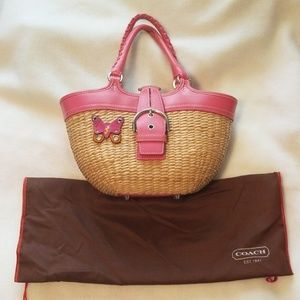 Coach Limited Edition Wicker Purse